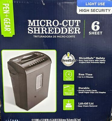 Pen Gear 6-sheet High Security Micro-cut Papercredit Card Shredder