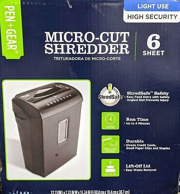 Pen Gear 6-sheet High Security Micro-cut Papercredit Card Shredder