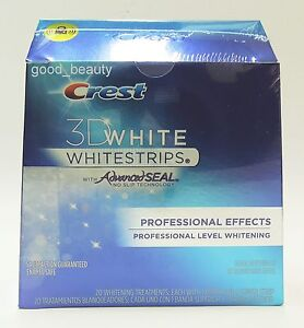 Crest 3D White Whitestrips Whitening Professional Effects 40 strips 20 Pouch