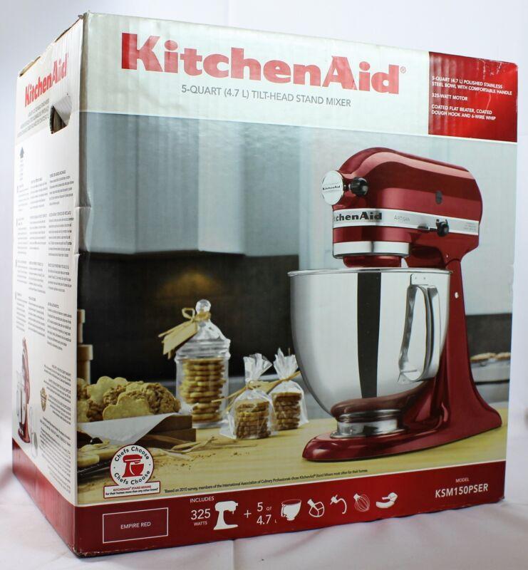 KitchenAid Artisan Series Tilt-Head Stand Mixer Empire Red KSM150PSER