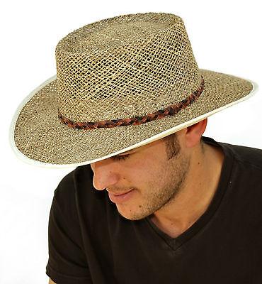 Mens Seagrass Straw Summer Hat