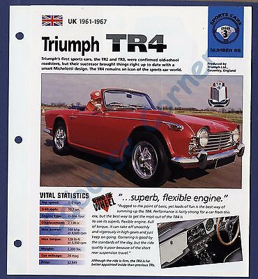 Triumph Tr4 Brochure Specs 1961 1967 Group 3  No 68