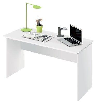Escritorio mesa de ordenador blanco brillo de despacho, oficina o estudio 120cm