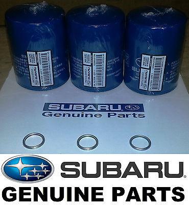 OEM Factory Subaru Engine Oil Filter & Crush Gasket (3 Pack) 15208AA15A KIT15A3