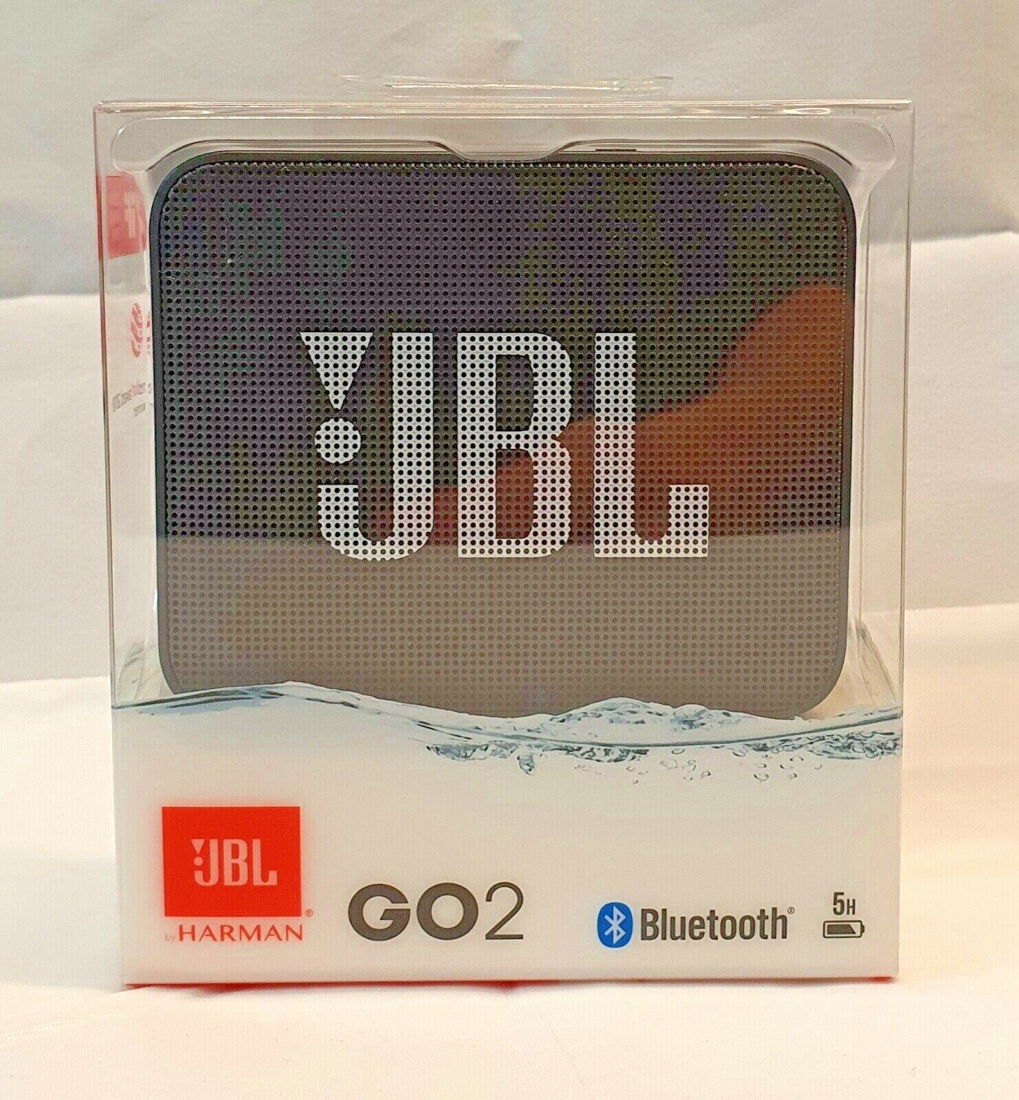 JBL GO 2 Portable Bluetooth Speaker Waterproof and Rechargeable with Handsfree