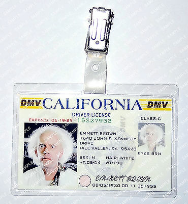 Back To The Future Emmett Brown DL Cosplay Prop Costume Comic Con Halloween (Back To The Future Halloween Costumes)