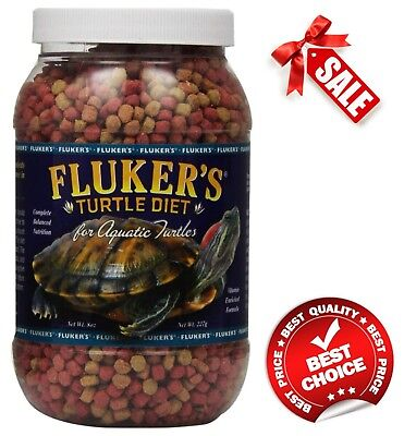 Fluker's Aquatic Turtle Diet Food 8-Ounce High-Protein Blend for Turtles