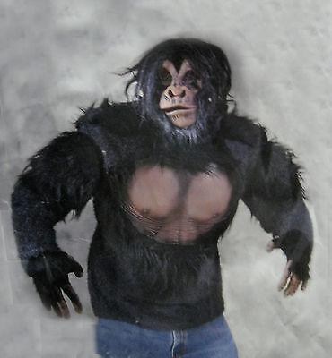 Schimpanse Erwachsene Halloween Kostüm Zagone Studios Affe Maske Handschuhe Hemd