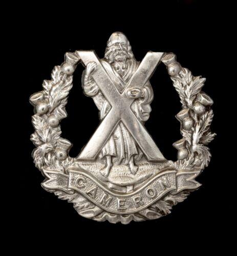 Cameron Highlanders Cap Badge Hallmarked Silver