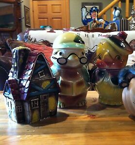3 Vintage Cookie Jars