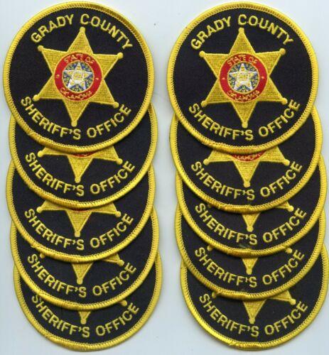 GRADY COUNTY OKLAHOMA OK Trade Stock 10 police patches SHERIFF POLICE PATCH