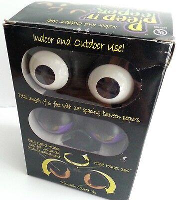 Halloween Peep n Peepers Set of 3 Spooky Flashing Eyes NIB Outdoor Monster Eye - Peep N Peepers