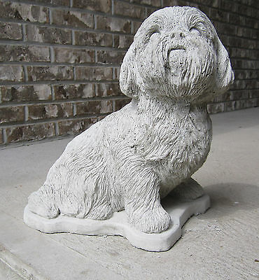 LIFE SIZE CONCRETE SHIH TZU STATUE OR USE AS A MONUMENT ( A BEAUTIFUL STATUE)