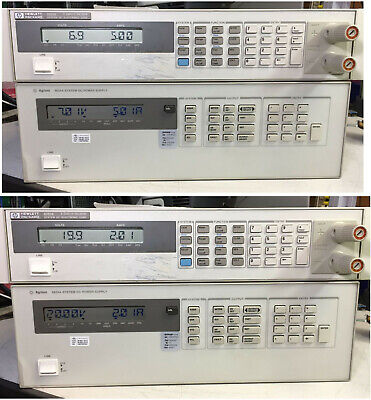 Agilent Hp 6624a Quad Variable Dc Output Power Supply Tested At Full Load