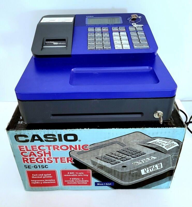 Casio Cash Register SE-G1 for Retail Businesses Thermal Printer BLUE!