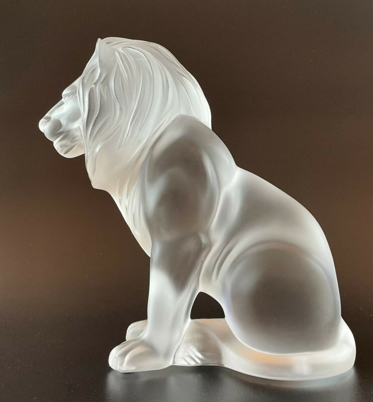 Lalique Bamara Lion Figure Signed 65% off Retail $1800