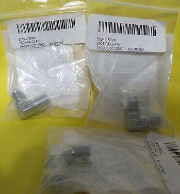 New 2501-04-02fg Hydraulic Fitting Mj -mp 90 Lot Of 3