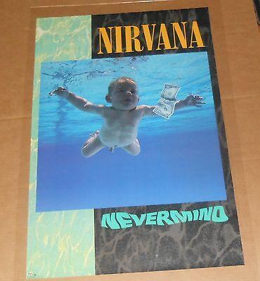 Nirvana Nevermind Poster Original 1991 Promo 35x23 Kurt Cobain