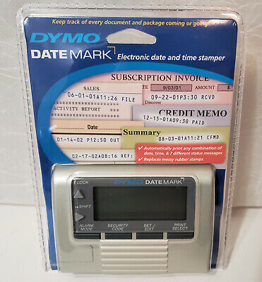 Dymo Datemark Electronic Date Time Stamper Factory Sealed 2002 Retired 47002