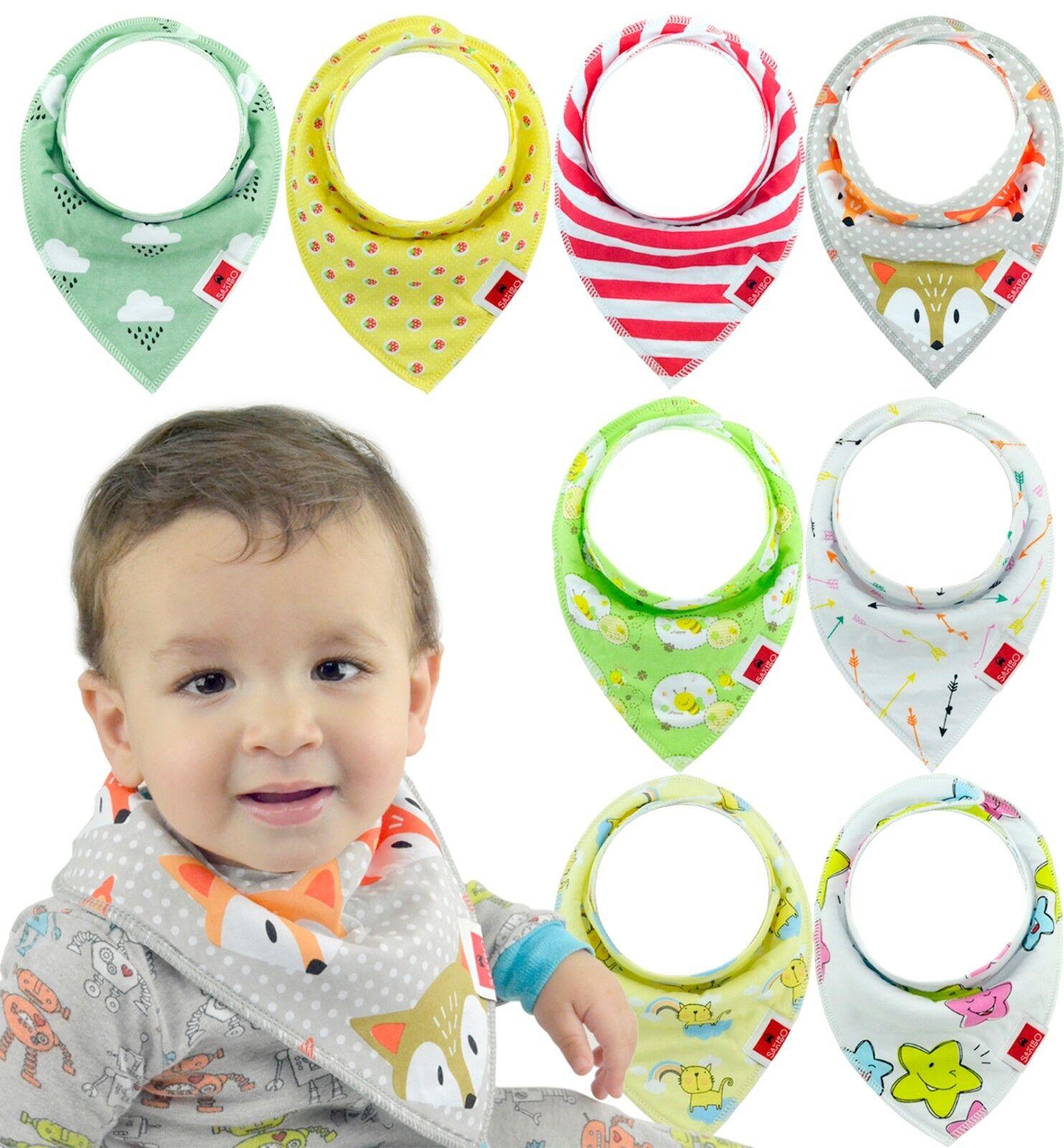 Baby Bandana Drool Bibs for Boys & Girls Unisex 8-Pack Gift