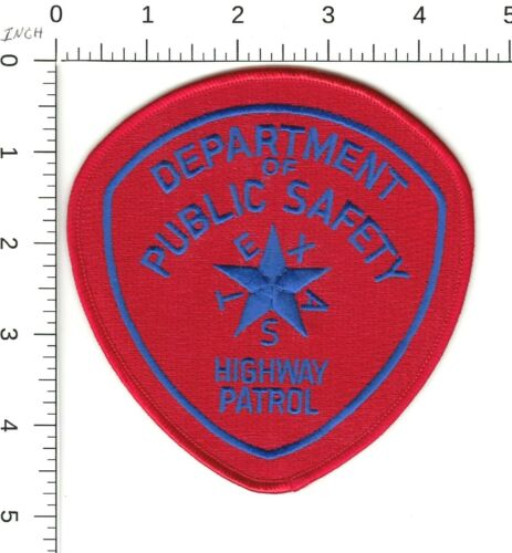 TEXAS HIGHWAY PATROL DEPARTMENT OF PUBLIC SAFETY TWILL POLICE PATCH TX