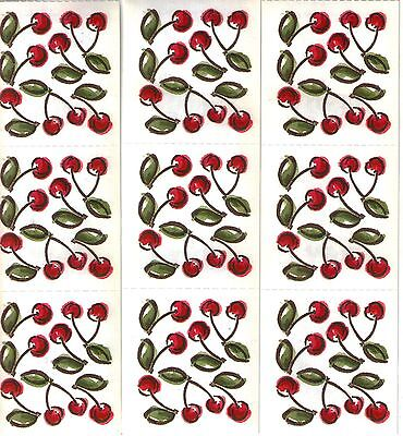 Individual Scrapbooking Stickers (*CHERRIES* PRINTWORKS STICKERS 3 Sheets ~ Nine Individual Modules VHTF Vintage)