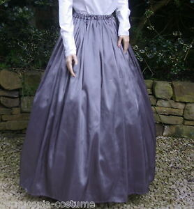 Ladies-SKIRT-Victorian-Edwardian-costume-gentry-fancy-dress-grey