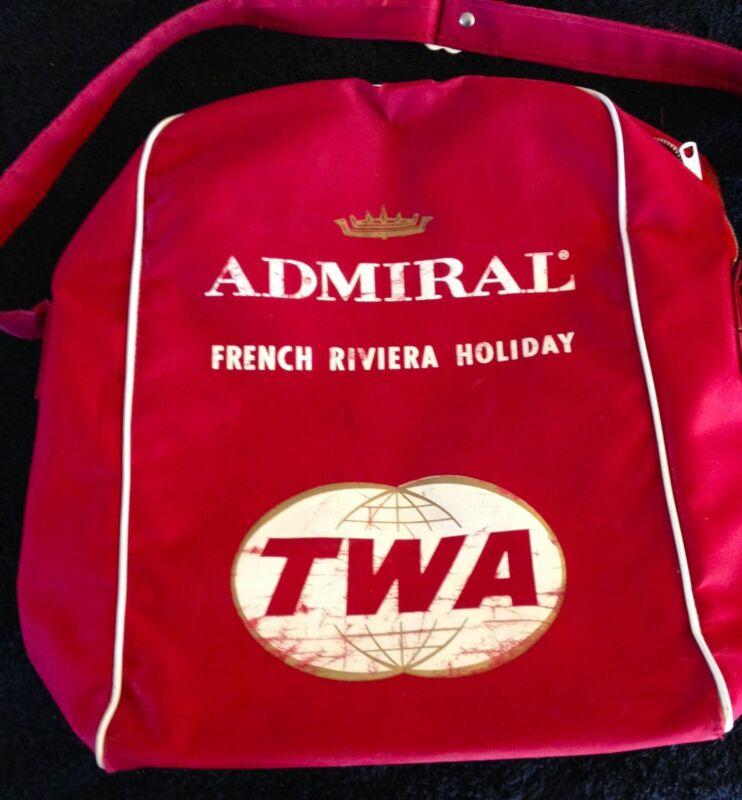 Vintage TWA Airline Travel Bag