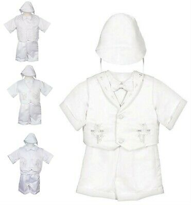 Baptism Christening Outfit Boys Infant Baby Toddler White Boy Clothes Dedication - Baby Christening