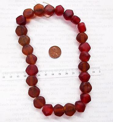 1650 - 1770 Rock Island Site Antique Trade Beads  Browns / Reds    F&I  BIN D
