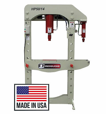 New 50 Ton Iroquois Electric Hydraulic Commercial Shop 14 Ton Press Usa Made