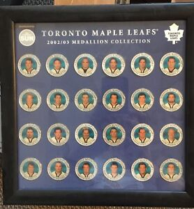 Toronto Maple Leafs framed coin set