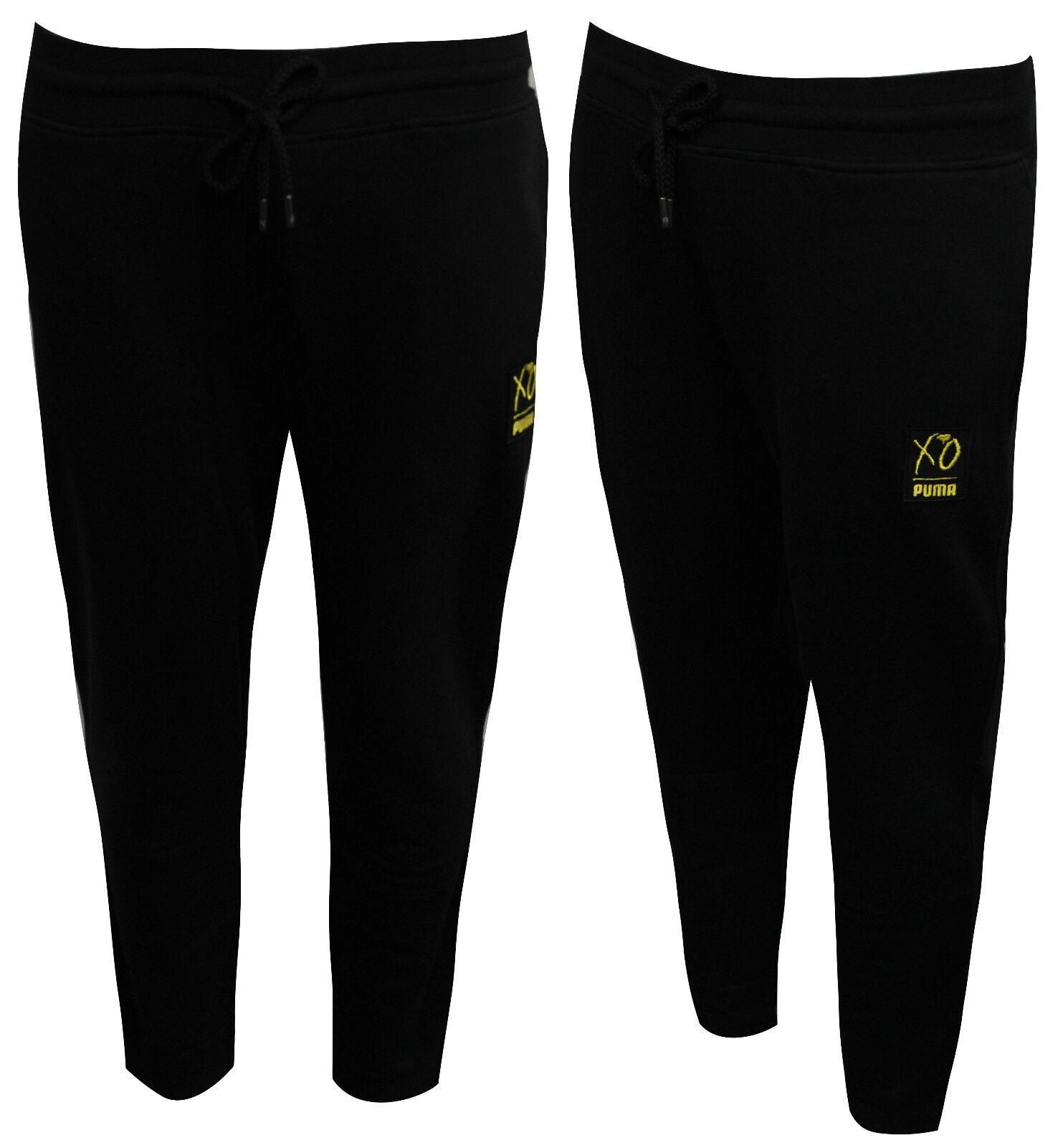 0aa36bdad6d3 Puma x XO The Weeknd Track Sweat Pants Bottoms Joggers Black 575350 ...