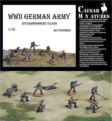 Caesar miniatures 1/72 WWII Ejército Alemán Sturmpioniere Equipo #B08