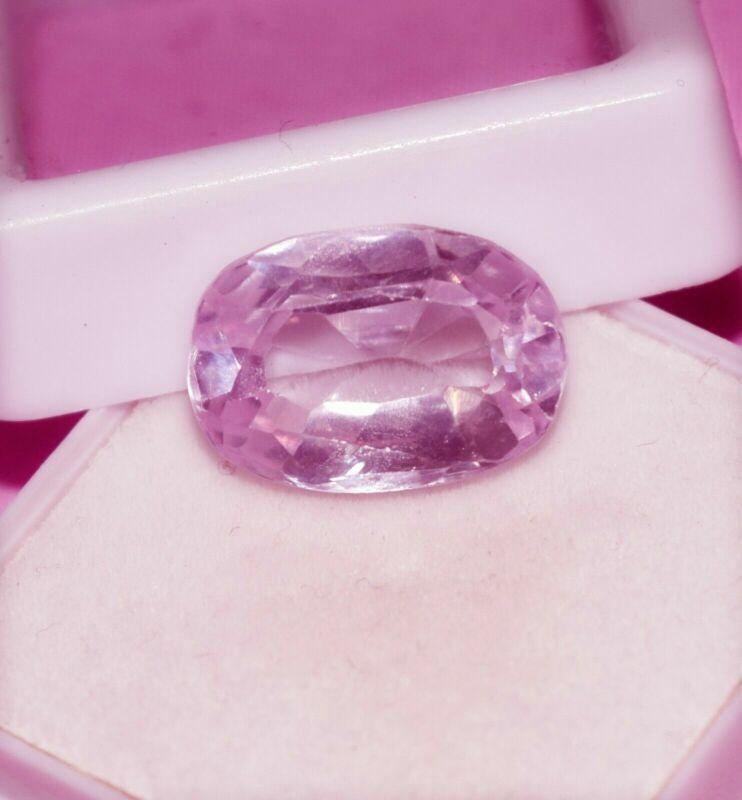 13.10 Cts Fascinating Natural Pink Kunzite Cushion Shape Certified Gemstone