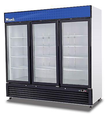 Migali C-72rm Three Door Refrigerator Glass Door Merchandiser