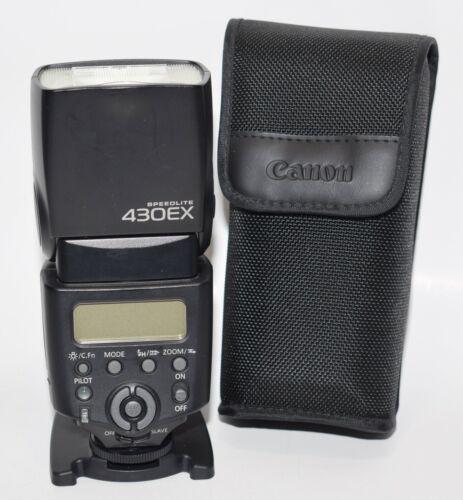 Original Canon Speedlite 430EX Shoe Mount Flash for EOS w/ Stand, Case TESTED