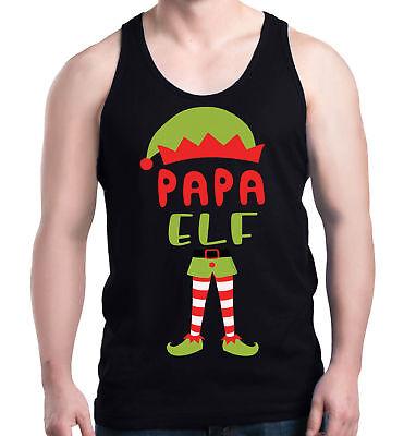 Papa Elf Costume Men's Tank Top Christmas Funny Merry Xmas Tank Tops](Merry Men Costume)