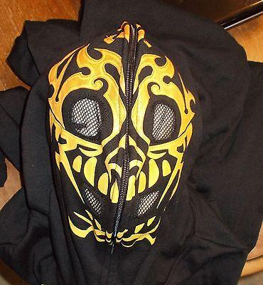 GWP SPORT BLACK HOODIE ZIP OVER FACE HALLOWEEN COSTUME MENS LARGE SURPLUS - Zip Face Halloween Costumes
