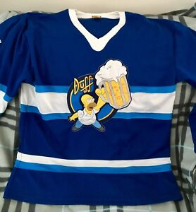 HOMER SIMPSON DUFF BEER Hockey Jersey RARE