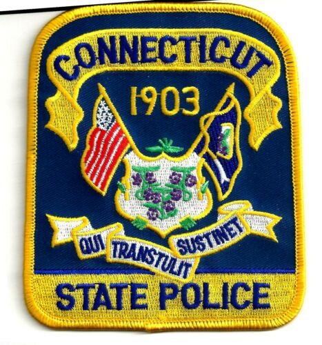 CONNECTICUT STATE POLICE - SHOULDER PATCH - IRON OR SEW-ON PATCH