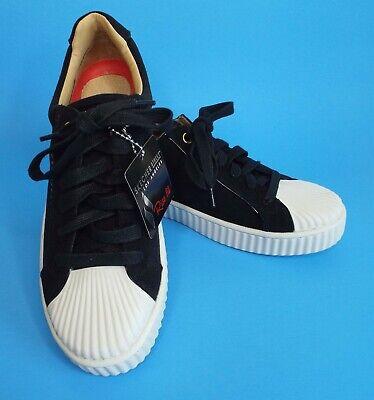 Skechers Street Rise Mila Wavy Walkers Sz 6.5 M Black Flatform Lace Up - Street Walker Shoes