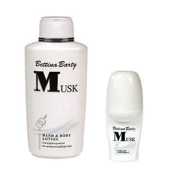 Bettina Barty Musk Hand & Bodylotion 500ml & Roll On Deo 50ml Sparset !