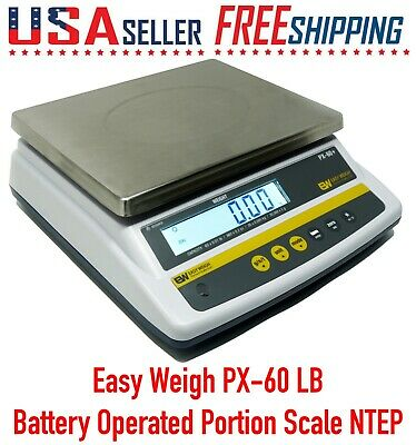 Easy Weigh Px-60 X 0.01 Lbs Capacity Battery Operated Portion Control Scale Ntep