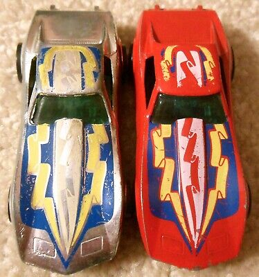 Vintage 1970s Mattel Redline Hot Wheels - Lot 2x CORVETTE STINGRAY Chrome & Red