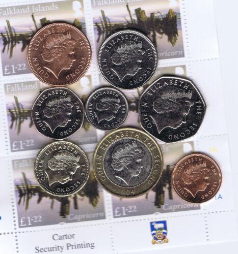Full set of Falkland Islands Coins