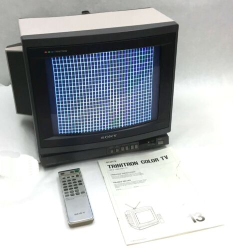 "SONY Trinitron Model KV-1380R 13"" Color CRT Retro Gaming Stereo TV Monitor READ"