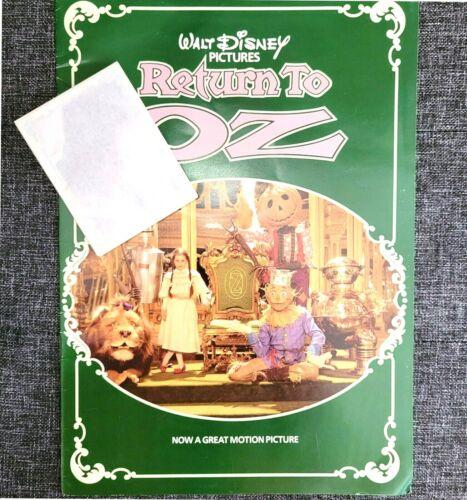 RETURN TO OZ 1985 Walt Disney Movie Sticker Book w/ Unopened Stickers - RARE
