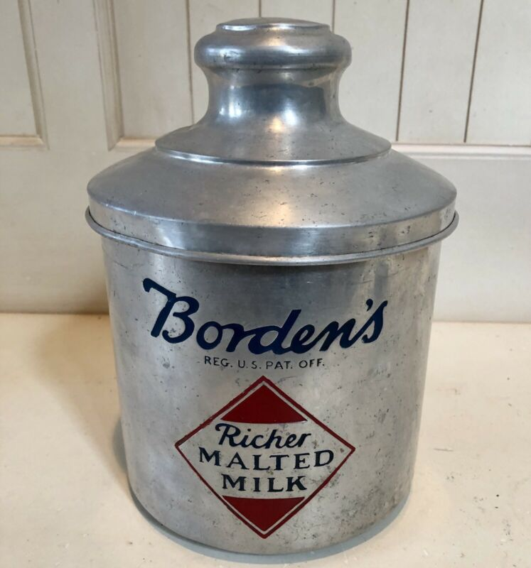 1940's Borden's Malted Milk Container - Aluminium
