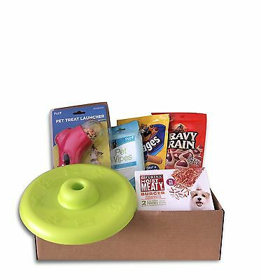 Deluxe Dog Gift Basket Treats Crewing Toy Set